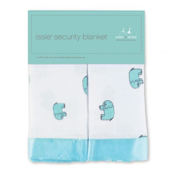 Aden & Anais Classic Issie Security Blanket 2pk - Declan Elephan
