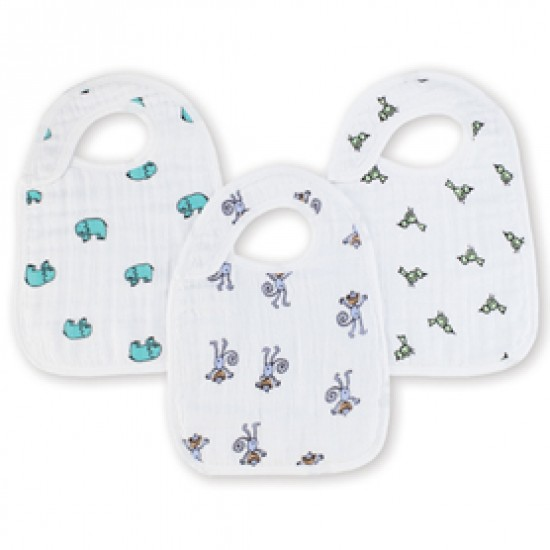 Aden & Anais Jungle Jam Classic Snap Bibs