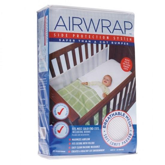 Airwrap mesh cot bumper (2 sides)