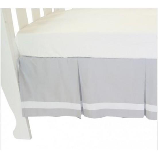Amani bebe Summer Stripe Crib Skirt - Grey