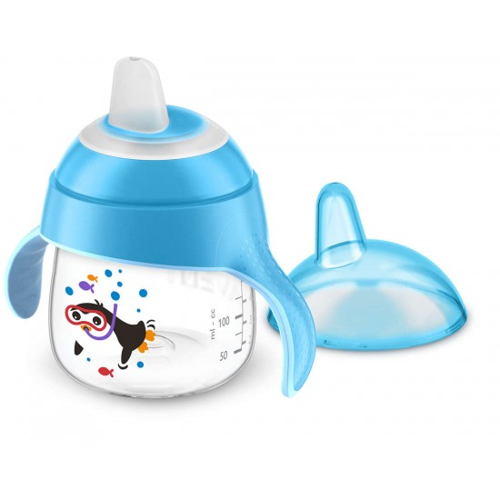 Avent Sip No Drip Cup 200ml Blue