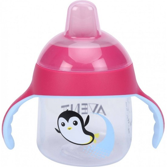 Avent Sip No Drip Cup 200ml Pink