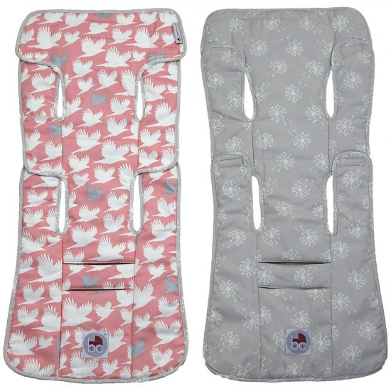 Babychic Designs Reversible Pram Liner - Blush Dove