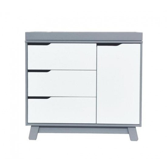 Babyletto Hudson Changer Dresser - Grey White
