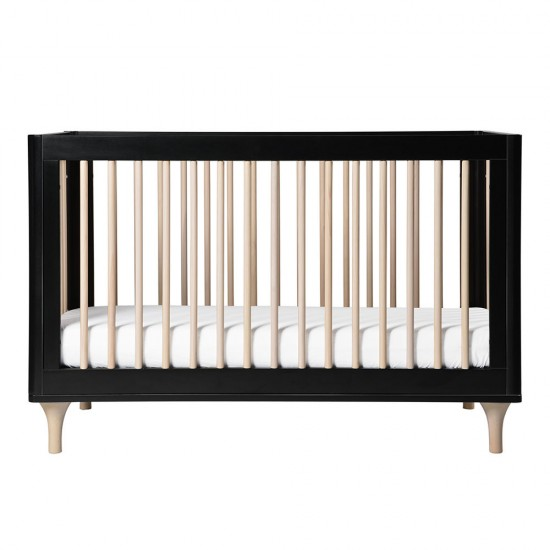 Babyletto Lolly Cot in Black & Washed Natural