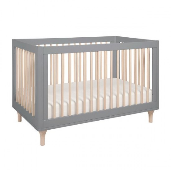 Babyletto Lolly Cot in Grey & Washed Natural