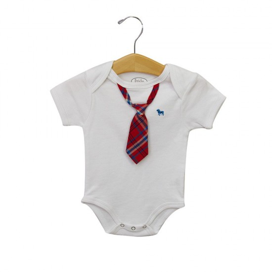 Body Suit White with Neck Tie