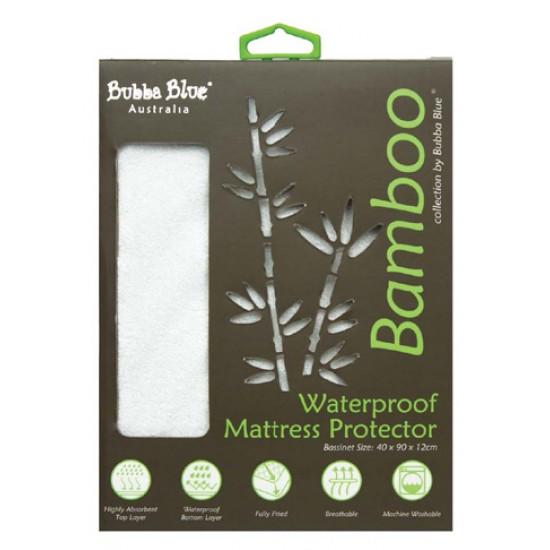Bubba Blue Bamboo Mattress Protector - Bassinet