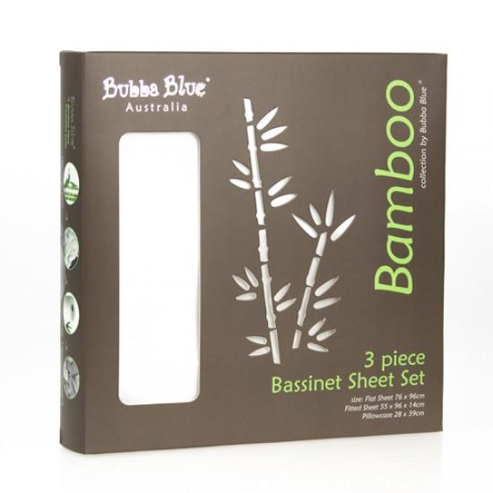 Bubba Blue Bamboo Sheet Set - Bassinet