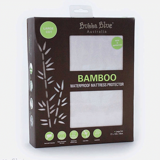 Bubba Blue Bamboo Waterproof Mattress Protector - Large Cot