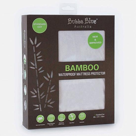 Bubba Blue Bamboo Waterproof Mattress Protector - Standard Cot
