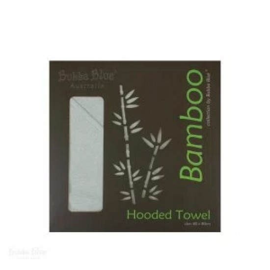 Bubba Blue Bamboo White Hooded Towel