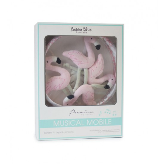 Bubba Blue Flamingo Musical Mobile