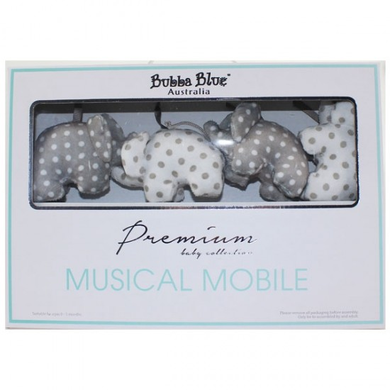 Bubba Blue Petit Elephant Owl Music Mobile