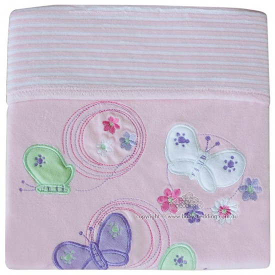 Buttefly Garden Velour Bassinet Blanket