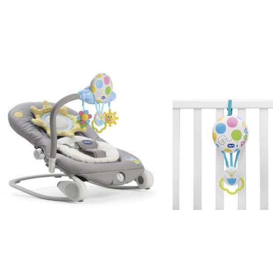 Chicco Balloon Rocker Bouncer - Dark Grey