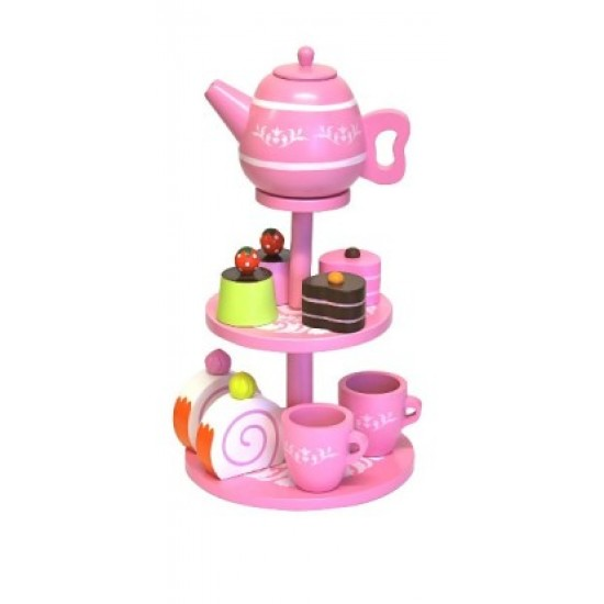 Discoveroo Wooden High Tea Set