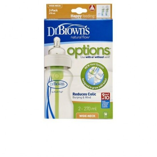 Dr Browns 270ml Wide Neck Baby Bottle 2 pk