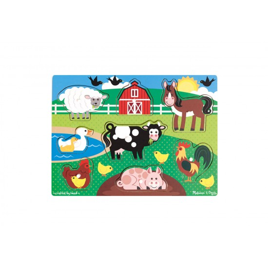 Farm Peg Puzzle by Melissa & Doug