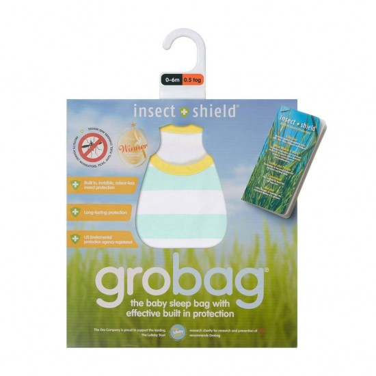 Insect Shield Mint Stripe Grobag