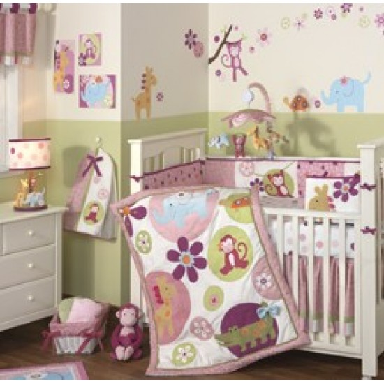 Lambs N Ivy Lollipop Jungle 5 Piece Bedding Set  SAVE 20% OFF