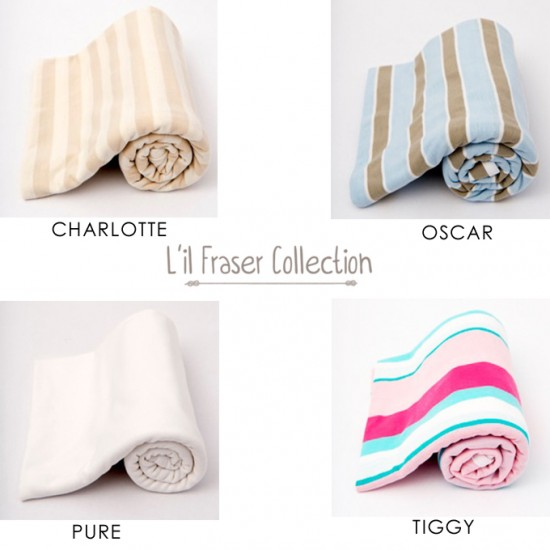 lil fraser Cotton jersey Stretch Swaddle Wrap