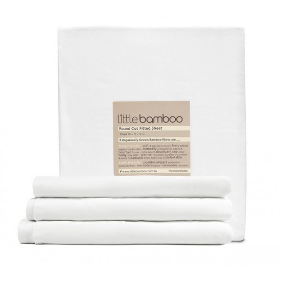 Little Bamboo Round Cot Fitted Sheet