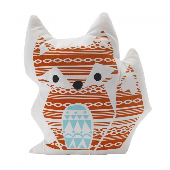 Living Textiles Character Cushion - Fox/Woods