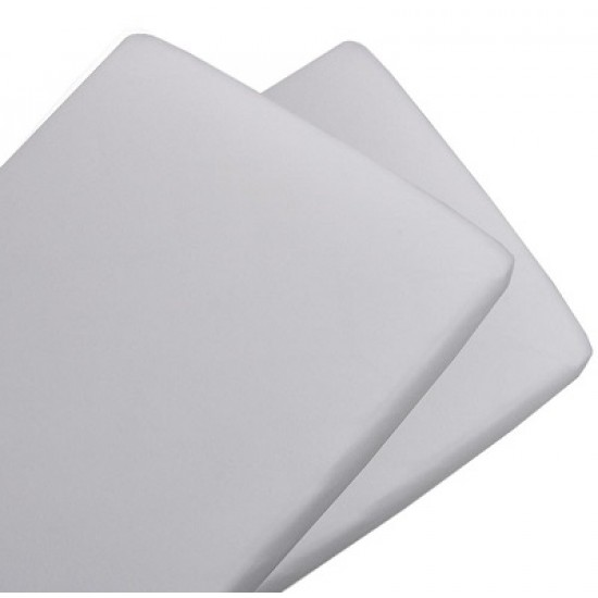 Living Textiles Jersey BASSINET Fitted Sheets 2pk - White