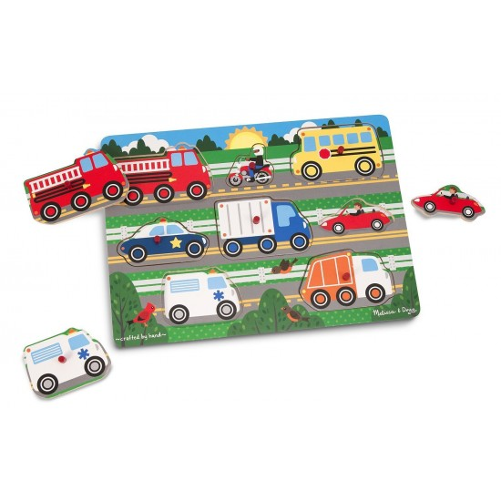 Melissa & Doug - Vehicles Peg Puzzle