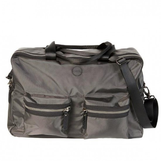 OiOi Ballistic Overnighter/Nappy bag - Charcoal