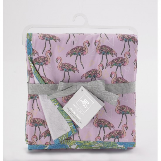 Rosie Pope Print Blanket - Flamingo