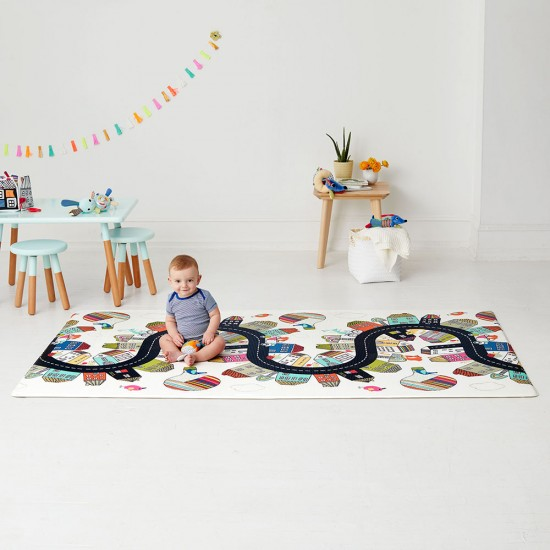 Skip Hop Reversible Playmat - Vibrant Village / Sketch Triangle