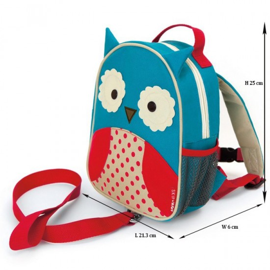 Skip Hop Zoo-let Mini Backpack With Rein- Owl