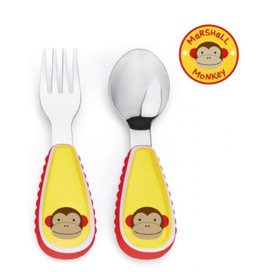 Skip Hop Zootensils Fork & Spoon - Monkey