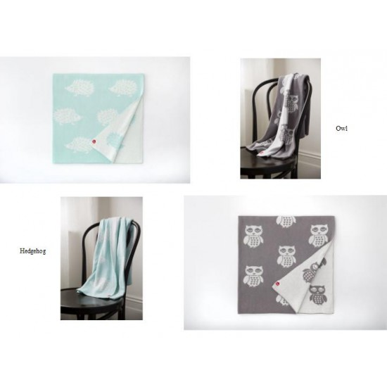 Speckled house organic cotton baby blankets