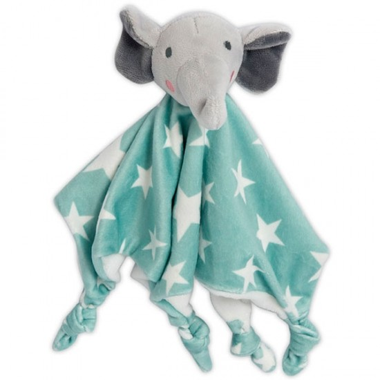 The Little Linen Company Lovie/Comforter Elephant Star