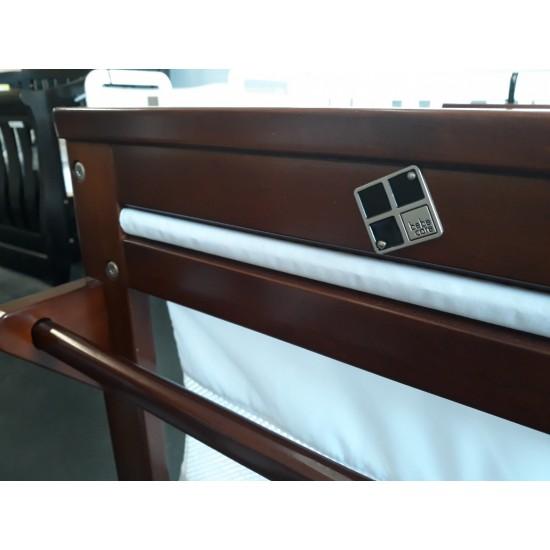 Bebe Care Wooden Baby Bassinet Crib in Walnut