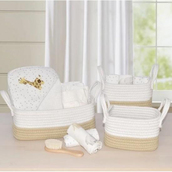 Living Textiles 3pc Cotton Rope Storage Basket