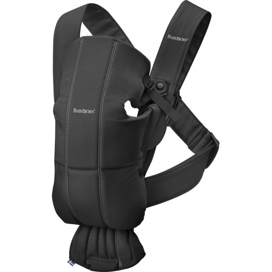 BabyBjorn Baby Carrier Mini - Black (Cotton)