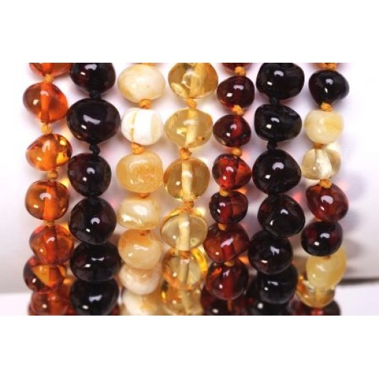 Little Smile Baltic Amber Teething Necklace 33-35cm