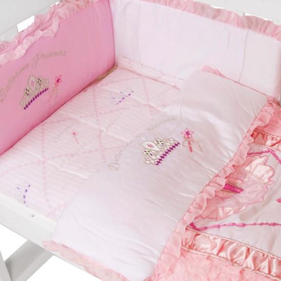 Amani Bebe Cradle Bedding Set 3pce - Ballerina Princess