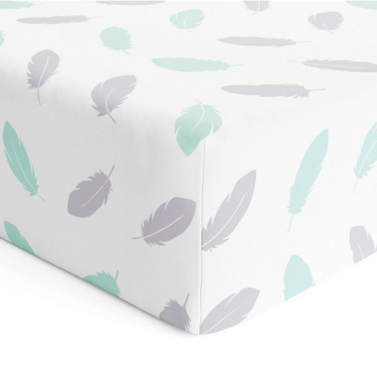 Bubba Blue Organic Feathers Cot Fitted Sheet