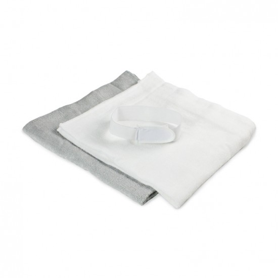 Bubba Blue Bamboo 8 pack Nappies / Towelling Squares - White & Grey