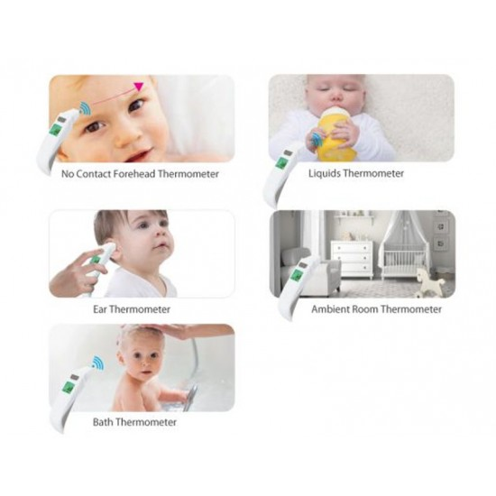 Cherub Baby 5 in 1 Touchless Forhead Ear & Bath Thermometer
