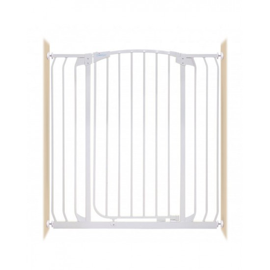 Dreambaby Chelsea F191W Xtra-Tall & Xtra-Wide Hallway Security Gate (White)