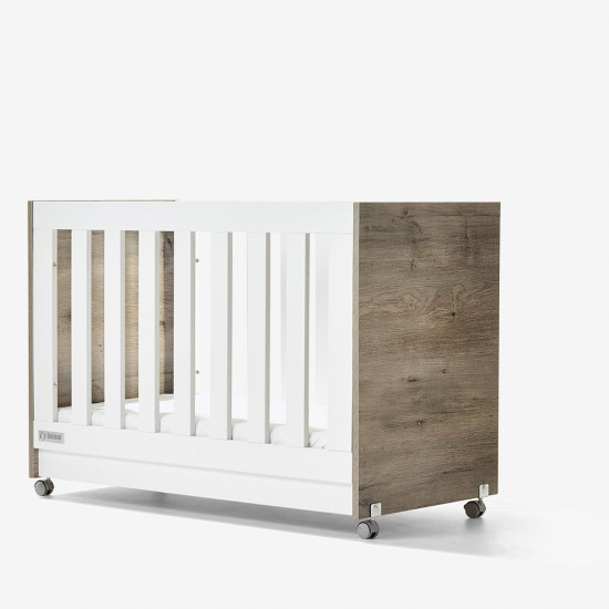 Tasman Eco Urban Eden Cot + Mattress (Ash)
