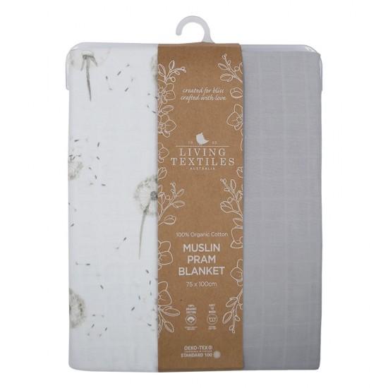 Living Textiles Organic Muslin Pram Blanket