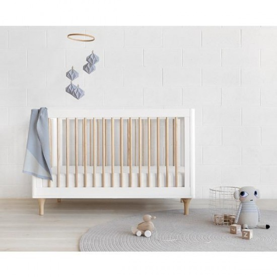 Babyletto Lolly Cot White & Natural
