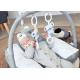 Babyhood Organic Nursing Pillow With Toy Bar - Leaf